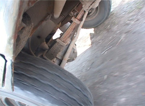 Rotation Of A Wheel A Close Up stock footage