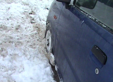 Directions by car in the snow Stock Video Footage
