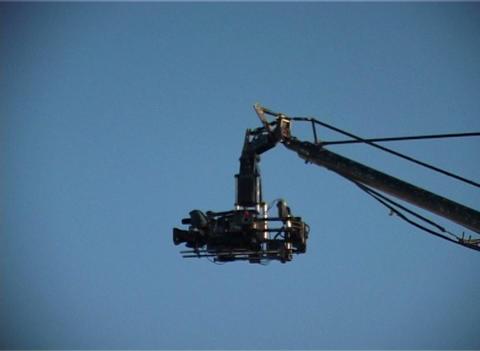 Camera on a crane Stock Video Footage