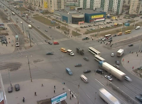 Crossroads in the city Stock Video Footage