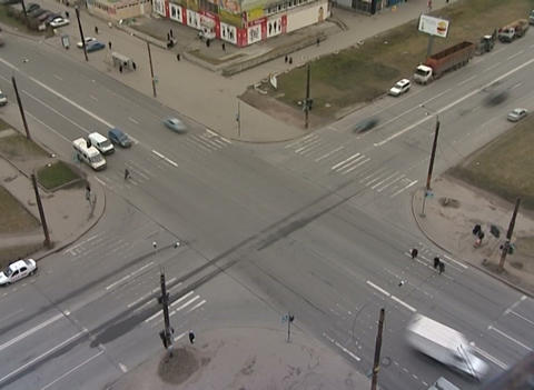 Crossroads in the city Footage