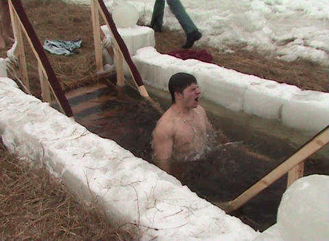 Skiing, baptism Stock Video Footage