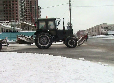 Tractor on the road Stock Video Footage