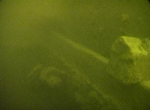 Sunken railroad cars on Lake Ladoga Footage