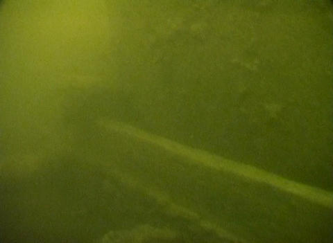 Sunken railroad cars on Lake Ladoga Stock Video Footage