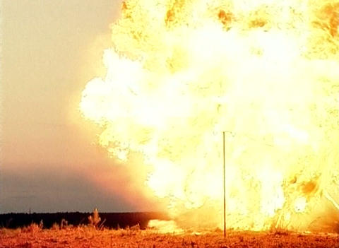 The explosion at the landfill Footage
