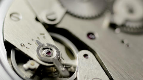 Watch mechanism turning Stock Video Footage