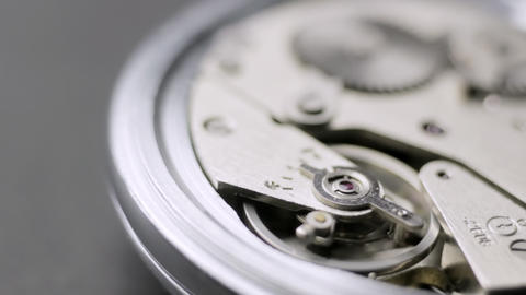 Open watch mechanism Stock Video Footage