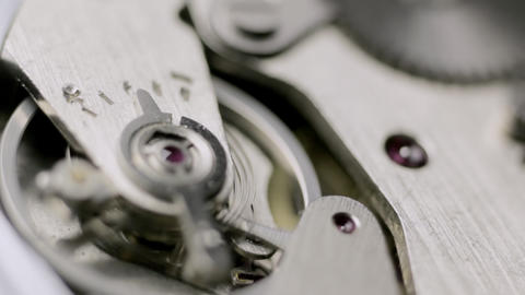 Turning watch mechanism Stock Video Footage
