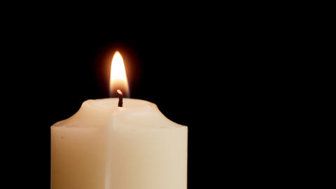 Candle Comes Into Focus stock footage