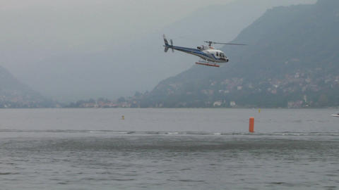 offshore helicopter 02 Stock Video Footage
