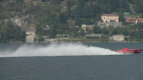 offshore race 02 Stock Video Footage