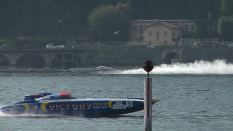 offshore race 04 Stock Video Footage