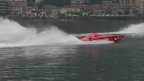 offshore warm up 11 Stock Video Footage