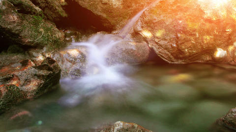 time lapse water flow Stock Video Footage