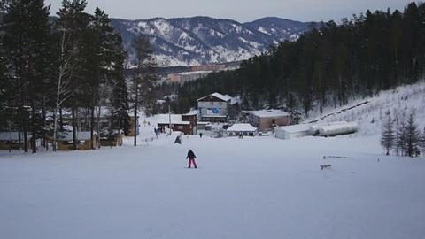 Snowboarding in Divnogorsk Stock Video Footage