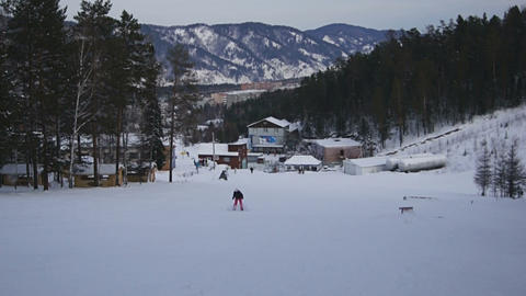 Snowboarding in Divnogorsk Footage