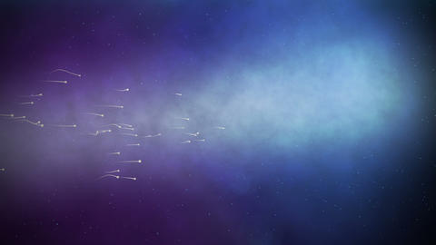 sperm moving abstract HD Stock Video Footage