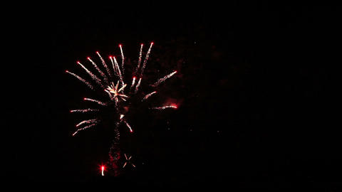 Colorful fireworks of various colors over night sky Footage