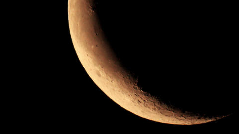 Covering the planet Jupiter by the Moon 15.07.2012,... Stock Video Footage