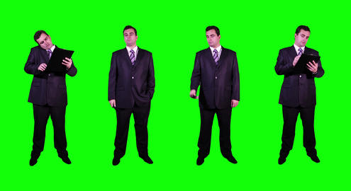 4 K Young Businessman Greenscreen 2 Stock Video Footage