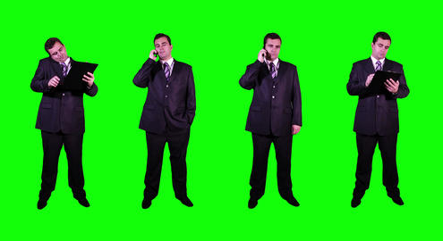 4 K Young Businessman Greenscreen 2 Footage
