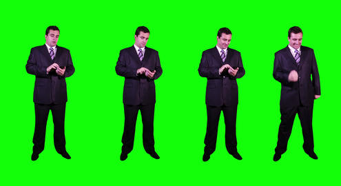 4 K Young Businessman Greenscreen 4 Stock Video Footage