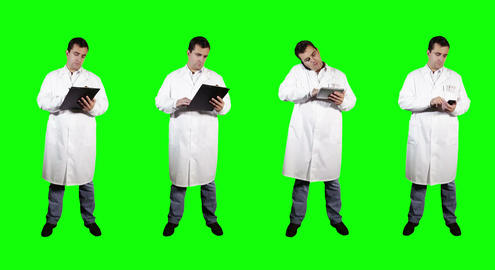 4 K Young Doctor Greenscreen 2 Stock Video Footage