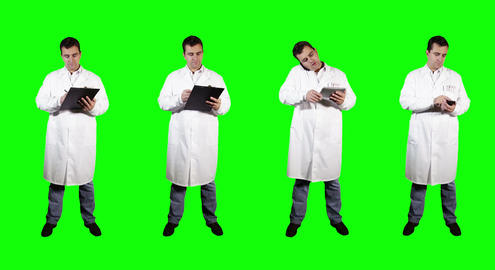 4 K   Young   Doctor   Greenscreen  2 stock footage