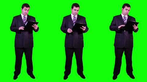 Young Businessman Bundle Greenscreen 1 Footage