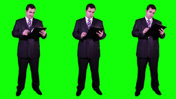 Young Businessman Bundle Greenscreen 1 Stock Video Footage