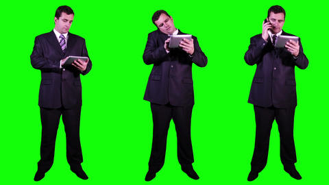 Young Businessman Bundle Greenscreen 3 Stock Video Footage