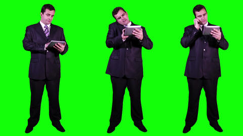 Young Businessman Bundle Greenscreen 3 Footage