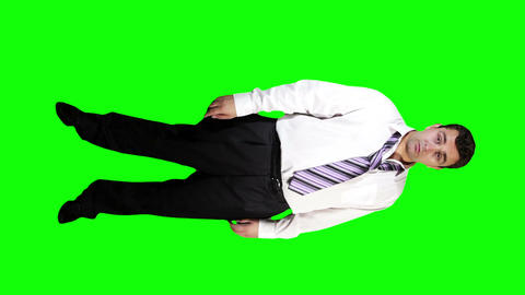 Young Businessman Drunk Full Body Greenscreen 41 Stock Video Footage