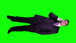 Young Businessman Phone Full Body Greenscreen 49 Stock Video Footage