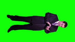 Young Businessman Touchscreen Phone Good News Full Body... Stock Video Footage