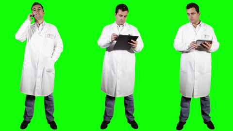 Young Doctor Bundle Greenscreen 1 Stock Video Footage