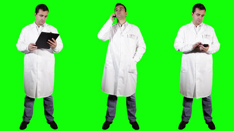 Young Doctor Good News Bundle Greenscreen 4 Stock Video Footage