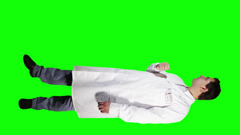 Young Doctor Scientist Full Body Presentation GS 27 Stock Video Footage