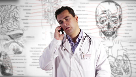 Young Doctor Smartphone Medical Background GS 1 Footage