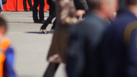 Crowd slow motion Stock Video Footage