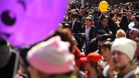 Festive crowd Stock Video Footage