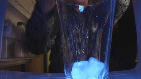 Man with ice Stock Video Footage
