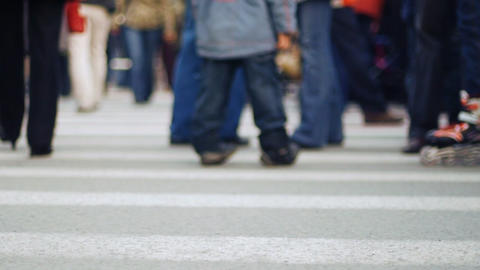 Pedestrian crossing 3 Stock Video Footage