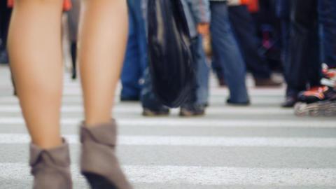 Pedestrian crossing 3 Footage