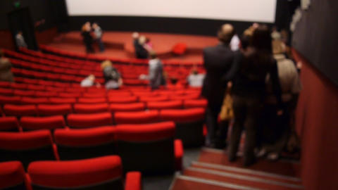 Premiere Cinema hall 2 Stock Video Footage