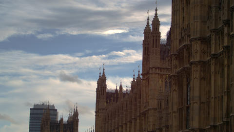 Westminster Palace side close-up Footage