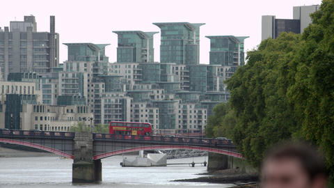 Lambeth Bridge and buildings in the background Footage