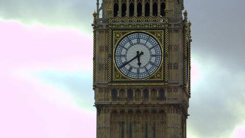 Extreme close-up of Big Ben dial Footage