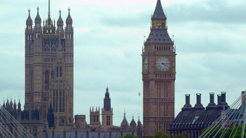 Close-up of Big Ben in London, England Footage
